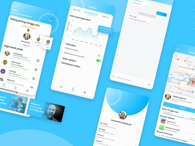 Parenting App UI/UX Design branding website web app design ux ui mobile