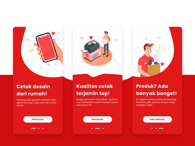 Onboarding Screen Online Printing App branding web website app design ux ui mobile