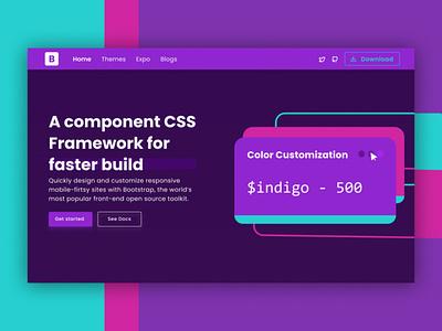 Bootstrap 5 Landing Page UI illustrator branding web website app design ux ui mobile