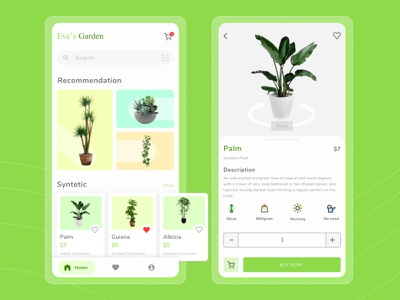 Plant Shop UI Design clean minimal typography app design ux ui mobile