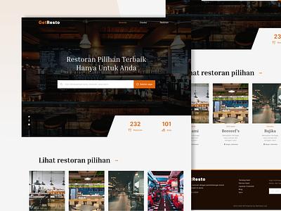Restaurant Finder Website UI Design web website design ux ui