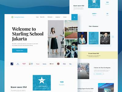 School Website Design Exploration minimal clean branding web website app mobile design ux ui