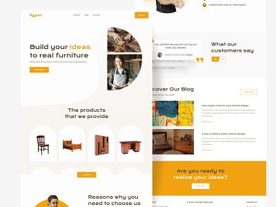 Nggawe - Custom Furniture Landing Page branding minimal clean web website app mobile design ux ui