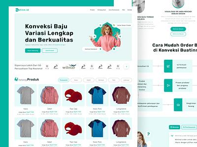 Custom Textile Website Design minimal clean branding web website app mobile design ux ui