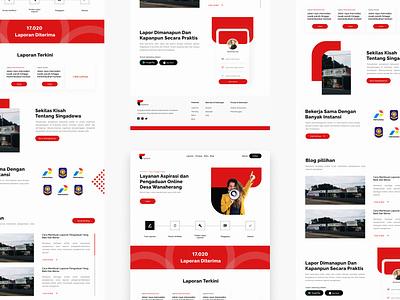 Public Complaint Website minimal clean branding web website app mobile design ux ui