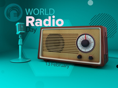 WORLD RADIO DAY radio render 3d models 3d art