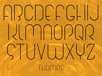Thomas, The Typeface