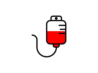 Blood Bag science icon illustration medical