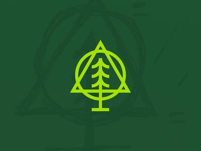 Forestry Craft trees mark logo