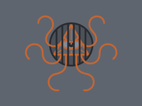 Caged Beast illustration kraken money