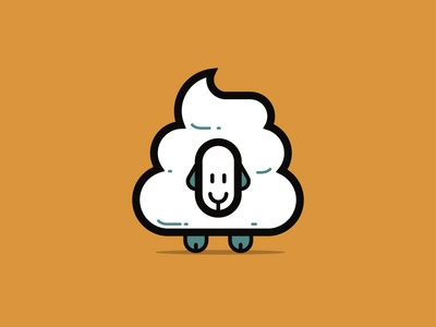Sheeple illustration poop sheep