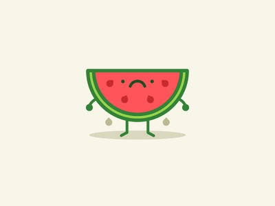 Sad Melon illustration sad watermelon