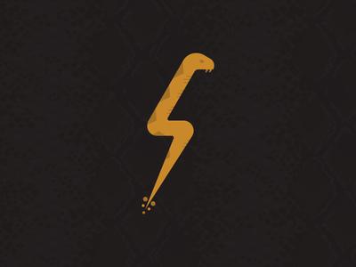 Lightning Snake rattlesnake diamondback lightning snake illustration