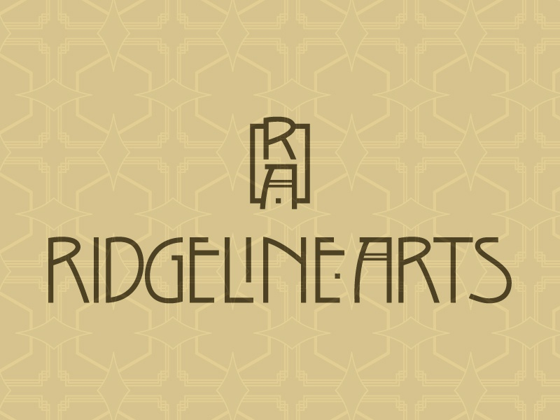 Ridgeline Arts branding logo lettering type custom type arts and crafts