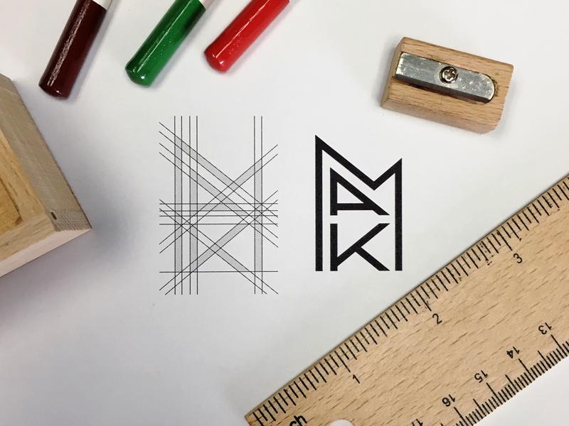 Mak process grid identity logo branding