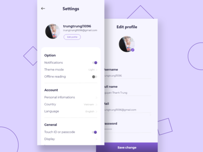 Daily UI #007 | Setting