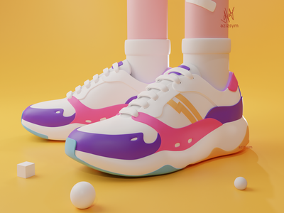 Sneaker 3D Modelling character photoshop icon blender 3dillustration branding logo ui design illustration 3d illustration 3d modelling 3d art 3d sneaker