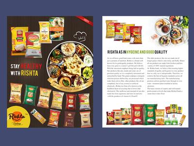 Rishta Food Magazine AD  Design