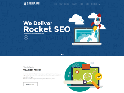 Rocket SEO -  SEO, Social Media Marketing WordPress Theme