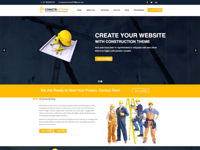 Construction – Construction, Renovation Business WordPress Theme