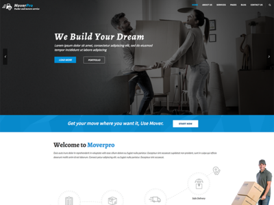 Mover Pro - WordPress Theme for Packers & Movers