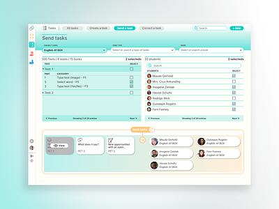 My Suite - Send Tasks design ux typography language learning education app