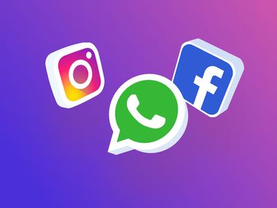 3d social app icons