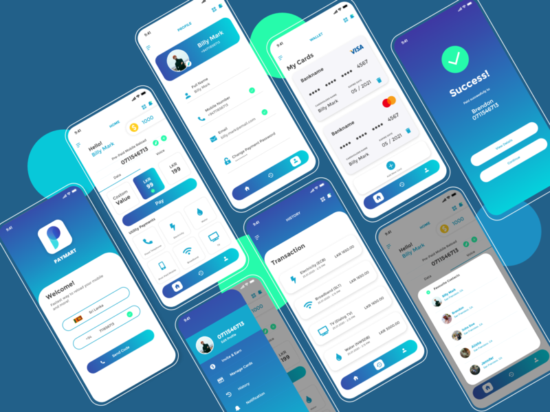 Paymart - For mobile reloads and Utility Payments banking bank app utility reload app payment app payapp graphic design flat web app icon typography ux ui user interface design branding