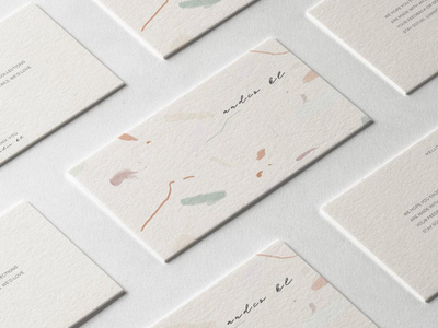 And Co Thank You Card Design branding visual identity watercolour brush strokes graphic illustration