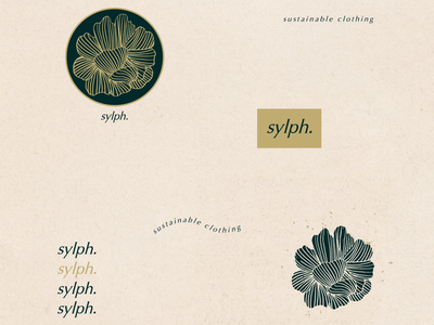 Sylph | A sustainable clothing brand typography brand curator brand stylist branding customised typeface typeface pattern logo design brand identity
