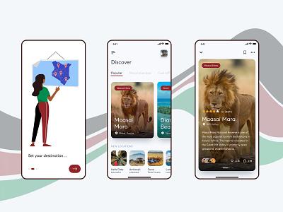 Magical Kenya app minimal clean design ui ux userinterface userexperiencedesign app android app design android