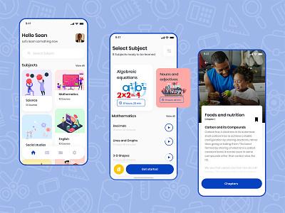 A school study app userinterface userexperiencedesign uiux ux ui minimal clean design clean ui app android app design android