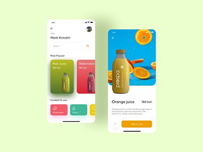 Prospa Juice App uiux clean ui clean ux android app design app userinterface android userexperiencedesign ui