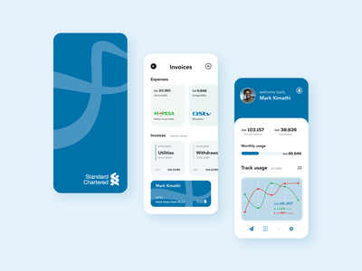 Stanchart App fintech banking app uiux android app design android clean ui ux userinterface userexperiencedesign ui