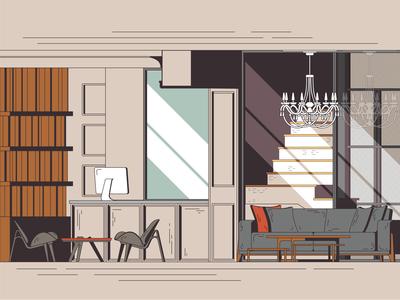 Hotel Lobby, Illustration #2