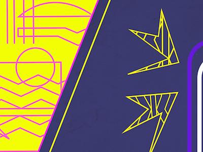 Neon Geometry geometric geometry illustration