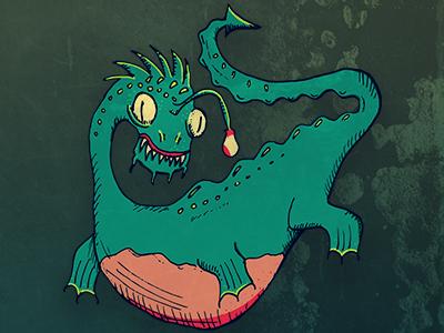 Chessie baltimore digital illustration sea monster monster illustration