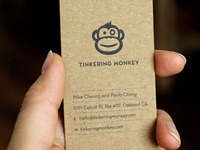 Tinkering Monkey business card #1