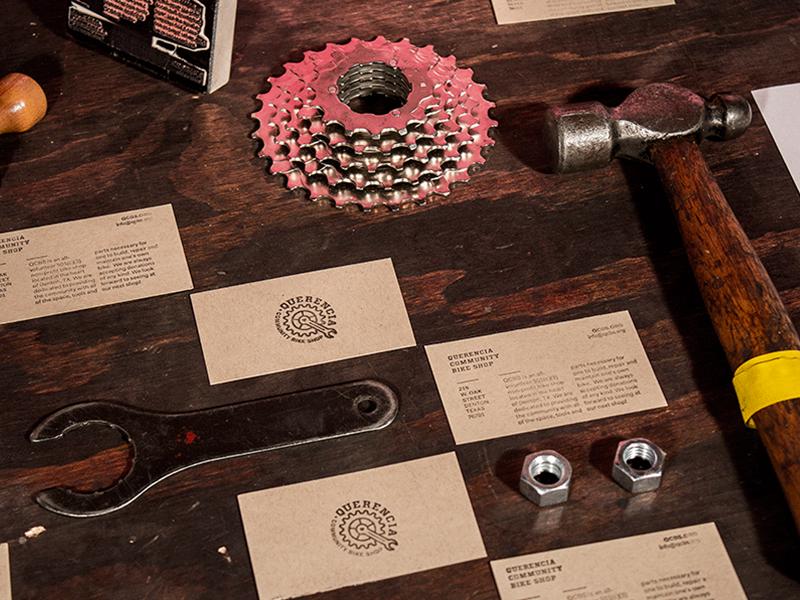QCBS denton dallas bikes bicycle branding identity stationery photography tools diy