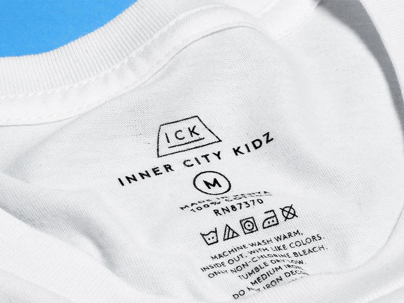 Inner City Tagz branding logo apparel design identity tag clothing shirt icons