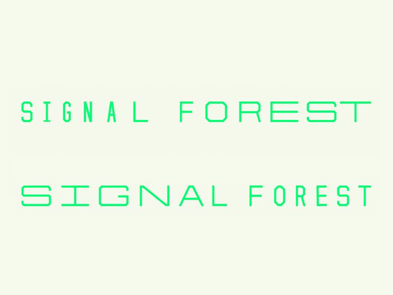 Stretchy telecom signal type typography identity branding logo