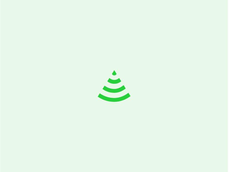 Slashed and Burned green branding tree wifi logo identity