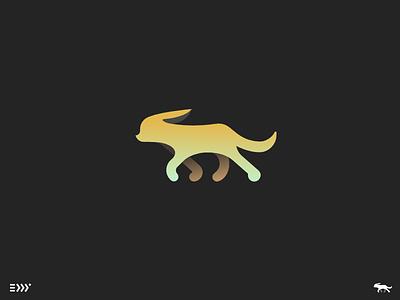 Logo Practice exploration gradient grid mark dog cat skillshare eddy organic animal logo