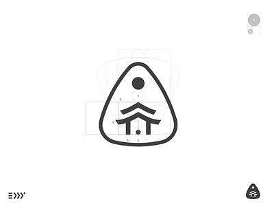 Logo Grid Practice fitness ratio golden eddy mark japanese temple branding practice logo