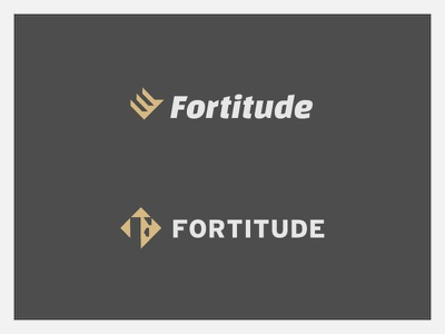 Fortitude Round 02 - 1 identity branding letter fist fashion health triangle shield lion eddy fitness logo