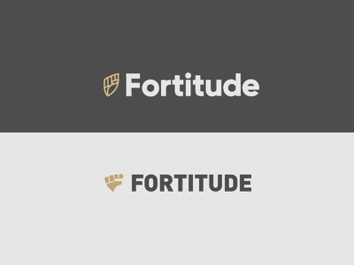 Fortitude Round 02 - 2 identity branding letter fist fashion health triangle shield lion eddy fitness logo