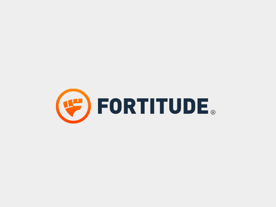 Fortitude Logo mark branding circle identity fashion health triangle shield fist eddy fitness logo