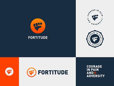Fortitude Brand System mark branding brand identity fashion health system shield fist eddy fitness logo