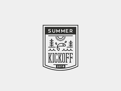 Summer Kickoff event eddy community sport leasure outdoor nature lake mark badge logo