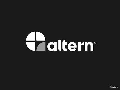Altern Logo logotype modern smoke minimalist clean simple mark eddy altern pen vape logo